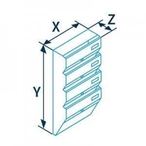 Sublokuota pašto dėžutė PD96 matmenys