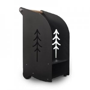 Fireplace trolley Midi black