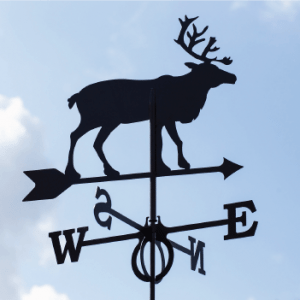 Weathervane North deer