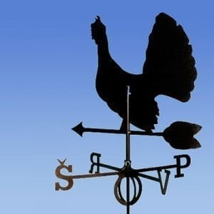 Weathervane wood grouse