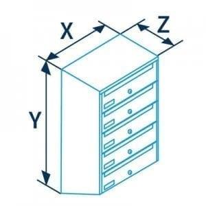 Sublokuota pašto dėžutė PD91 matmenys