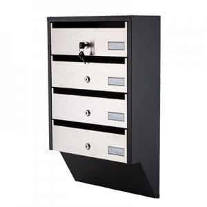 Apartment mailbox PD93 stainless steel