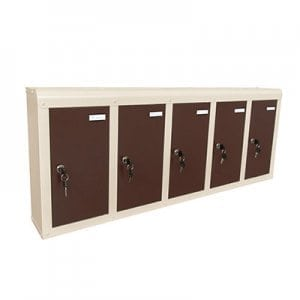 Apartment mailbox PD94 brown