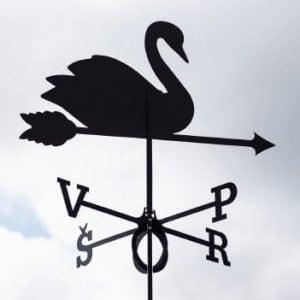Флюгер Лебедь
