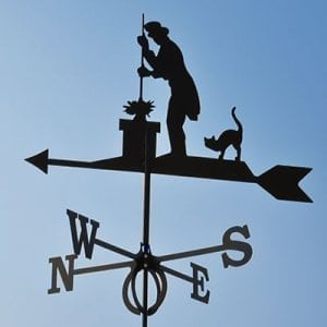 Weathervane chimney sweep