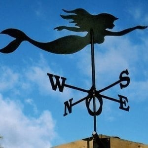 Weathervane mermaid